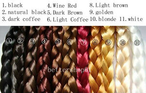 Fashion-Bohemian-Synthetic-Hair-Plaited-Plait-Elastic-Headband-Hairband-10-Color