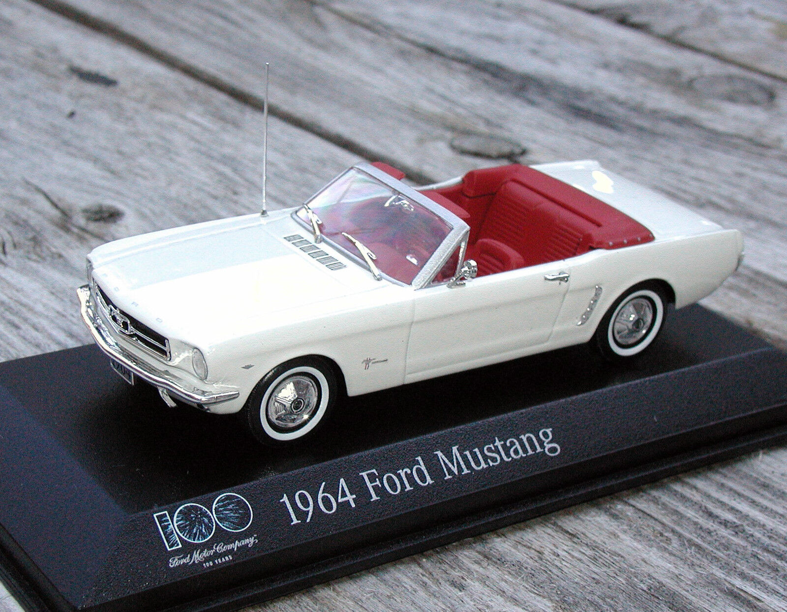 1 43 1964 FORD MUSTANG MINICHAMPS - LIMITED LIMITED LIMITED EDITION 100 YEARS FORD f1f24b