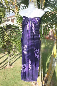 Sarong-Plus-Size-Purple-Hibiscus-Coverup-Cruise-Sarong-Pareo-Bikini-Wrap-Dress