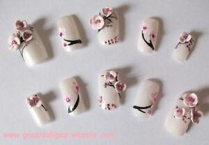 Japanese 3d Acrylic Nail Art Set Cherry Blossom Ebay