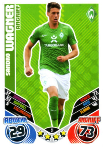 Match coronó 2011//2012 11//12 SV Werder Bremen de todas las tarjetas escoger