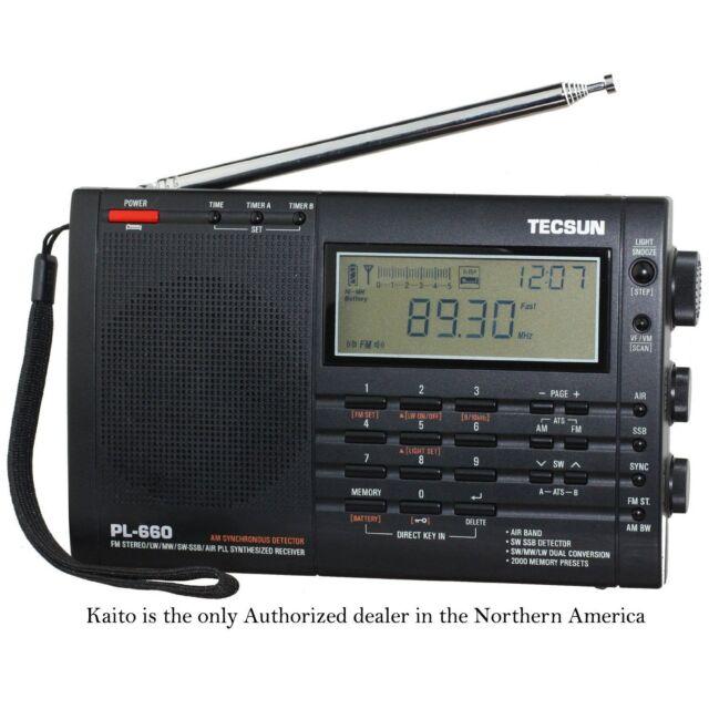 Used Tecsun PL660 AM FM SW Air SSB Synchronous Radio - Black