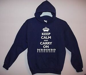 NEW-ADULT-039-KEEP-CALM-AND-CARRY-ON-039-PERSONALISED-HOODY-ANY-TEXT-S-M-L-XL-XXL