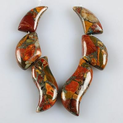 g0977 Multi-color picasso jasper pyrite pendant beads set