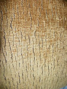 Gold-Brown-Animal-Print-Chenille-Upholstery-Fabric-1-Yard-R430