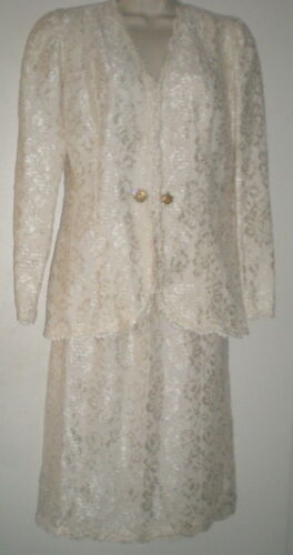 YVONNE LAFLEUR New Orleans LACE SUIT 6 Jacket Top Skirt OCCASION Wedding OUTFIT