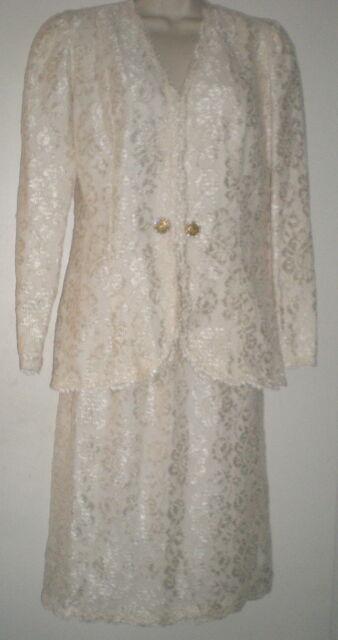 YVONNE LAFLEUR New Orleans LACE SUIT 6 Jacket Top Skirt OCCASION Wedding OUTFIT