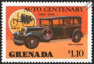 1930-STOEWER-G14-Gigant-MINT-CAR-STAMP-1986-Grenada