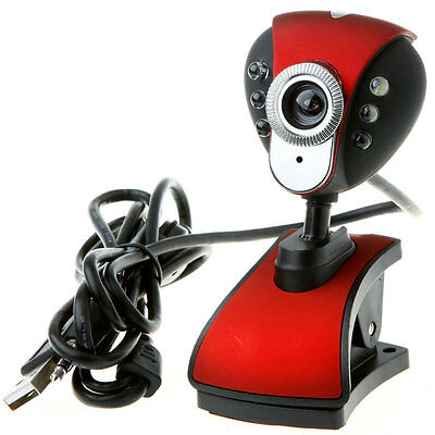 USB 2.0 50.0M 6 LED PC Camera HD Webcam Web Camera With MIC For Laptop PC