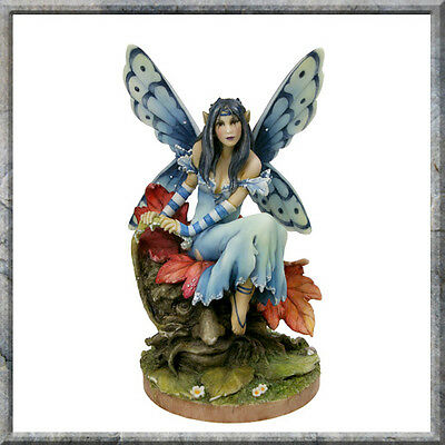 LINDA RAVENSCROFT A TOUCH OF FROST BUTTERFLY FAIRY STATUE OTHERWORLD COLLECTION