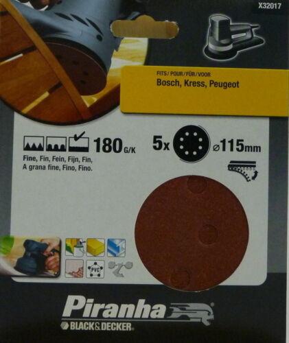 B2 Pckg für Bosch mit 5 Stk Piranha Exzenter Schleifpapier Ø 115 mm Kress