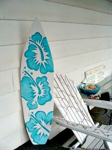 Surfboard Wall Art 4 foot surfboard wall art, hawaiian beach decor wall hanging can