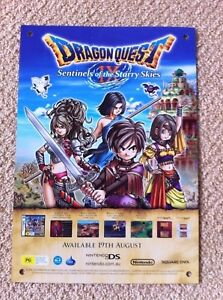 Dragon-Quest-IX-9-Double-Official-POSTER-Mid-NEW