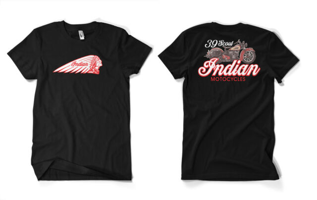 1939 Indian Scout T-Shirt Indian motorcycle retro vintage style t-shirt