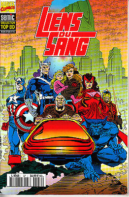 Abundante Liens Du Sang Collection Top Bd Marvel Semic A Prueba De Encogimiento