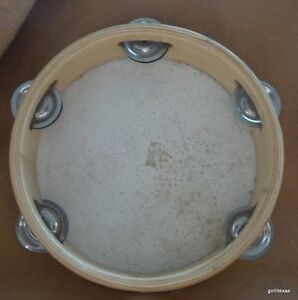 "First Act Tambourine 8"" Wood"