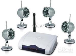 Wireless-4-x-Camera-USB-PC-TV-surveillance-System-outdoor-AV-security-2-4ghz