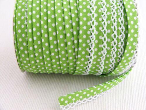 LUNARES PICOT crochet//encaje borde doble pliegue Sesgo de Unión Por Metro