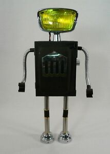 LUMABOT-1-Robot-metal-sculpture-assemblage-vintage-parts-lighted-head