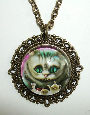Kette Grinsekatze Alice im Wunderland Tea Time Cheshire Cat Wonderland Katze