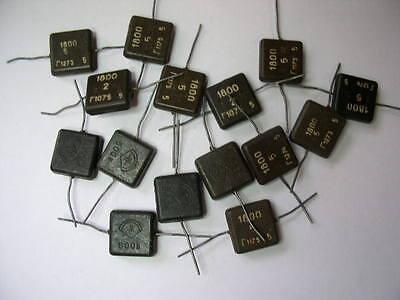 1800pF 500 V silver mica KSO capacitors. Set of 15. NOS