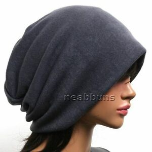 Unisex-chic-Baggy-BEANIE-oversize-slouchy-Knit-Hat-men-women-Skull-Cap-New-Bgy