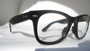 RayBan-Black-Wayfarer-RB-2140-Clear-Eyeglasses-Glasses-ITALY-Authentic