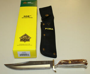 PUMA-SGB-034-ORIGINAL-BOWIE-034-HAND-FORGED-FIXED-BLADE-STAG-HANDLE-KNIFE-NEW-IN-BOX