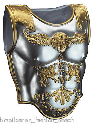 Knight Breastplate Medieval Armour Gladiator Costume Warrior Roman Soldier Chest