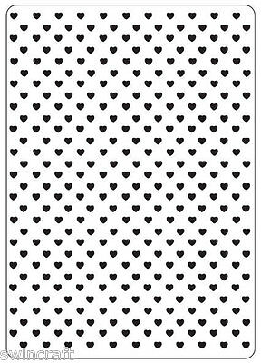 Crafts Too A6 Embossing Folder HEARTS CTFD3018