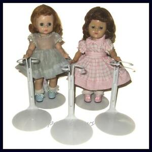 FREE-U-S-SHIPPING-3-White-KAISER-Doll-Stands-for-8-Madame-Alexander-GINNY