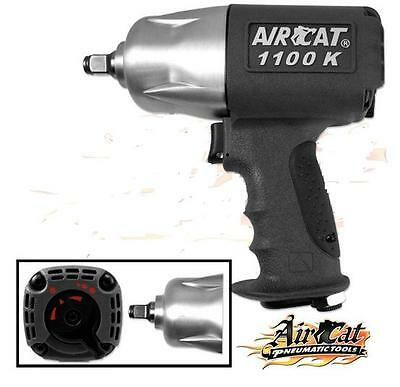 "AIRCAT 1100-K 1/2"" Twin Clutch Composite Air Impact Wrench Delivers 1100Ft-Lb"