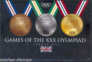 TUVALU LONDON 2012 OLYMPIC GAMES MEDALS IMPERFORATED SHEET NH