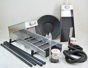Complete-Prospecting-Start-Up-Kit-Highbanker-Clean-Up-Sluice-Pan-Vials-GOLD