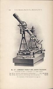 1902-F-E-Brandis-PRECISION-INSTRUMENTS-CATALOG-Telescope-Sextant-Compass-Azimuth