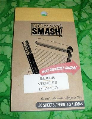 SMASH BOOK ACCESSORY - PAD - BLANK LINES LIST  - Journaling, Scrapbooking