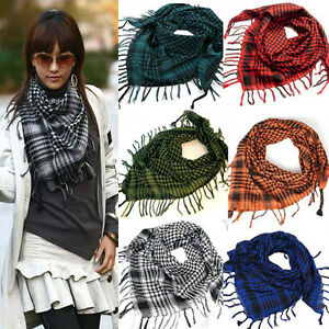 Unisex-Women-Men-Checkered-Arab-Shemagh-Grid-Neck-Keffiyeh-Palestine-Scarf-Wrap
