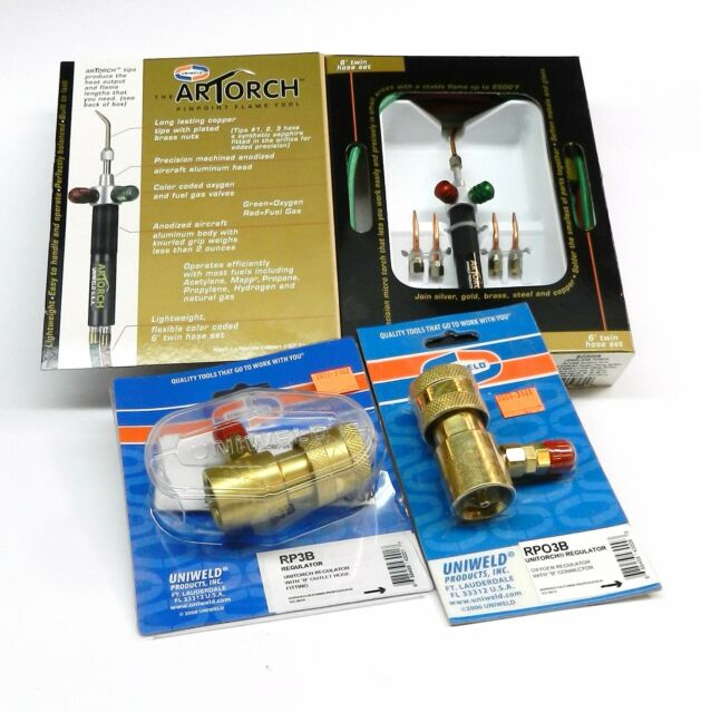 ARTORCH COMPLETE SET- KIT WITH TORCH 5-TIPS & PRESET REGULATORS SOLDERING OUTFIT