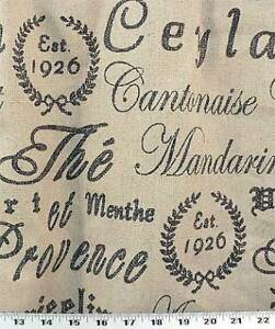 Drapery-Upholstery-Fabric-French-Script-on-Rustic-Linen