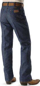 WRANGLER-Men-039-s-COWBOY-CUT-Jeans-40-X-38-RIGID-Navy