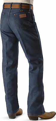WRANGLER Men's COWBOY CUT Jeans 34 X 34 - RIGID - Navy - 13MWZ