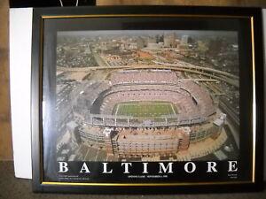 Framed under glass Baltimore Ravens M&T Bank Stadium