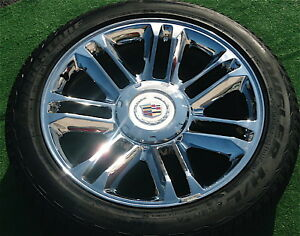 Brand-NEW-2012-Cadillac-ESCALADE-PLATINUM-22-inch-OEM-Factory-style-WHEELS-TIRES