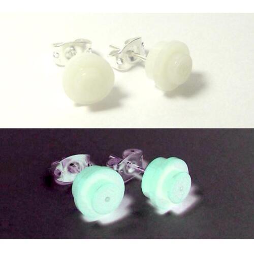 ☆NEW☆ LEGO Girl  Round Glow in the Dark Earrings!