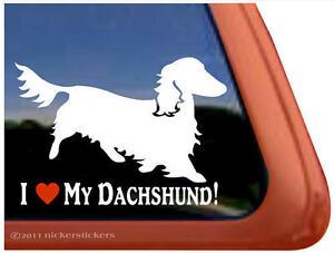 I-LOVE-MY-DACHSHUND-Longhair-Weiner-Dog-High-Quality-Window-Decal-Sticker
