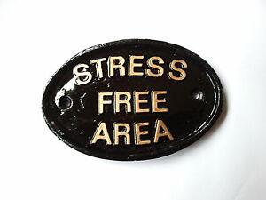 Stress-Free-Area-garden-sign-funny-koi-carp-fish-pond