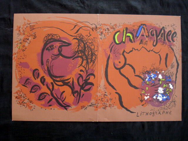 Marc Chagall Couveture Lithograph inv982