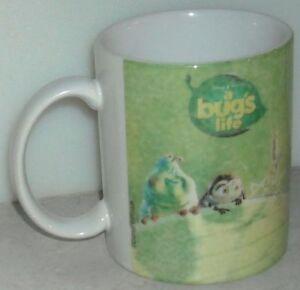 A-BUGS-LIFE-MUG-Disney-Store-Green-White-Coffee-Cup-Mug