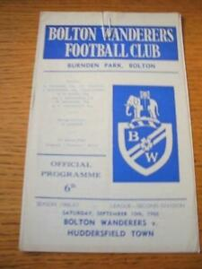 10091966 Bolton Wanderers v Huddersfield Town  Slight Fold No obvious fault - <span itemprop='availableAtOrFrom'>Birmingham, United Kingdom</span> - Returns accepted within 30 days after the item is delivered, if goods not as described. Buyer assumes responibilty for return proof of postage and costs. Most purchases from business s - Birmingham, United Kingdom