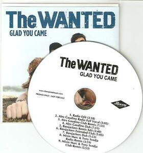 THE-WANTED-034-GLAD-YOU-CAME-034-OFFICIAL-amp-RARE-US-9-TRACK-PROMO-CDS-WICKED-REMIXES